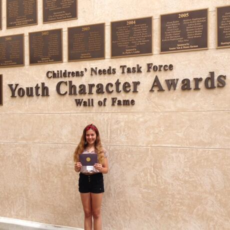 Congratulations to Peyten Van Eyk for being nominated for the Youth Character  Award!